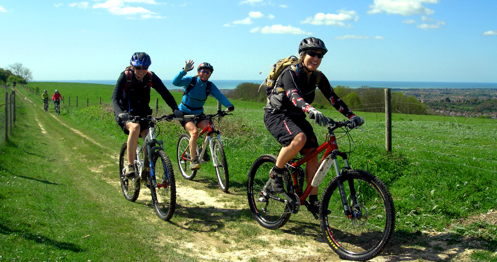 Off road cyclists